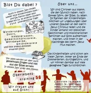 Einladung Kinderfreizeit 2012